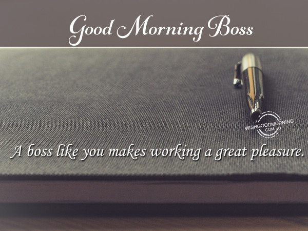 A Great Pleasure Good Morning Boss-wm101