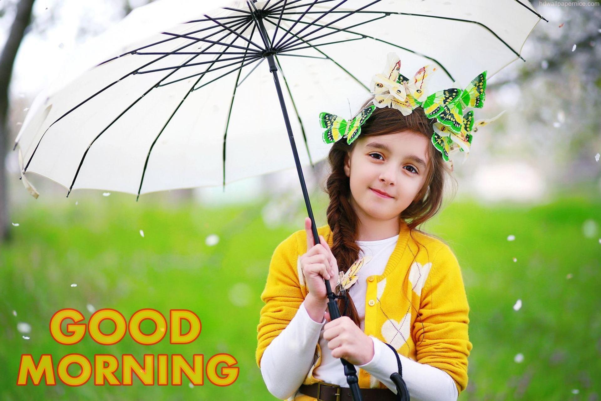 Beautiful Girl Wishing Good Morning