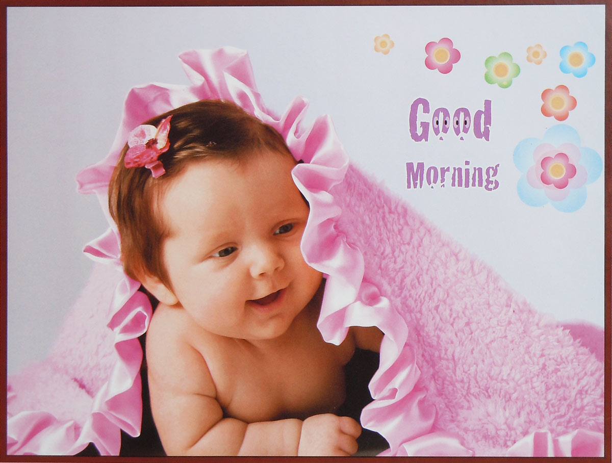 Cute Baby Good Morning Image