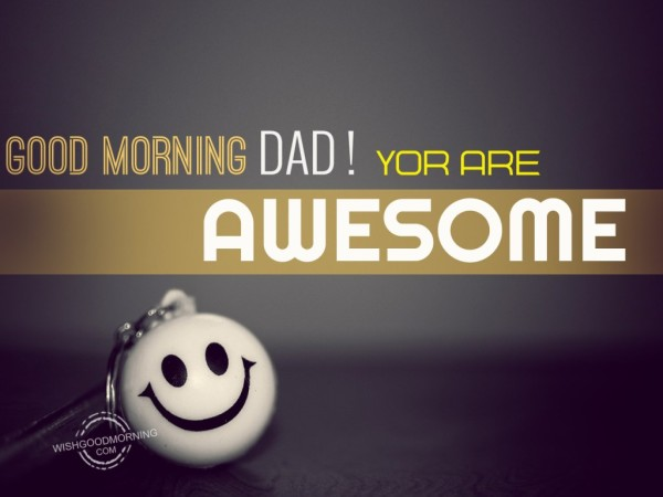 Good Morning Dad You Are Awesome