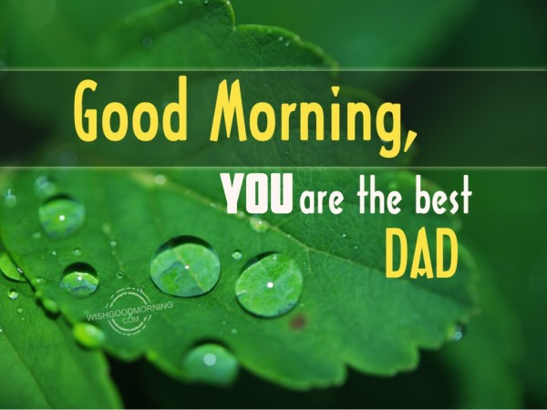 Good Morning Dad You Are The Best