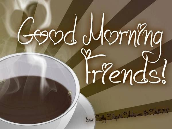 Good Morning My Family In French : Good morning dear friends