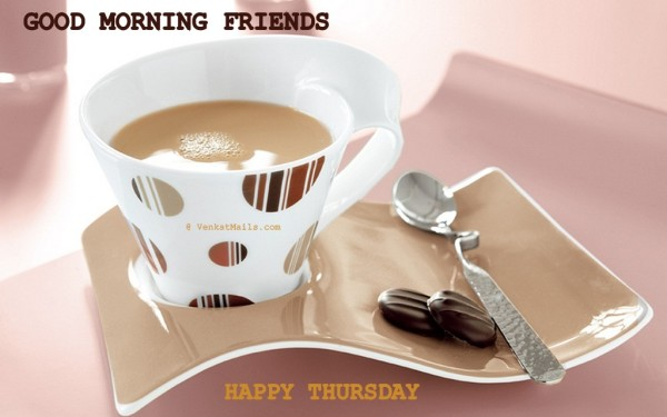 Good Morning Friends Happy Thursday-wm501