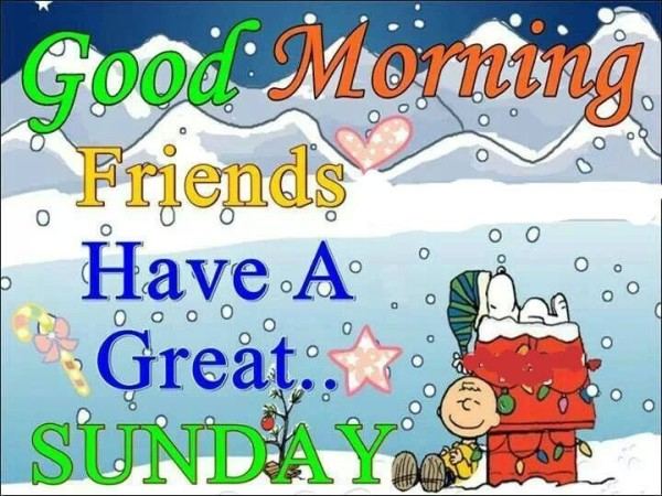 Good Morning Friends Have A Great Sunday-wm407