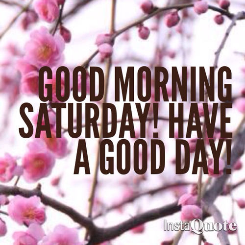 Good Morning Saturday Have A Good Day-wm325