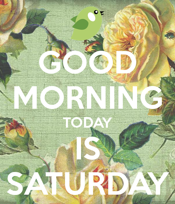 Good Morning Today Is Saturday-wm330