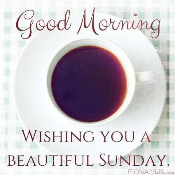 Good Morning Wishing You A Beautiful Sunday-wm425