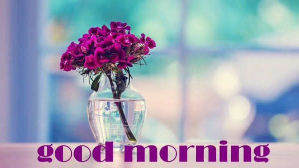 Good Morning With Beautiful Purple Flowers-wm13065