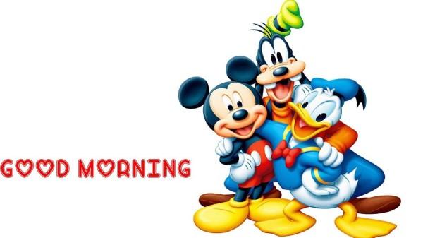 Good Morning With Disney Cartoon-wm921
