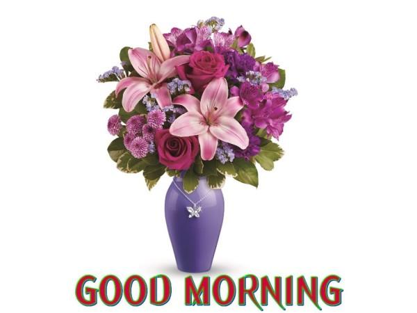 Good Morning With Fresh Flowers-wm13073