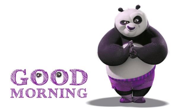 Good Morning With Kungfu Panda-wm924