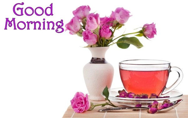 Good Morning With Pink Roses-wm13087