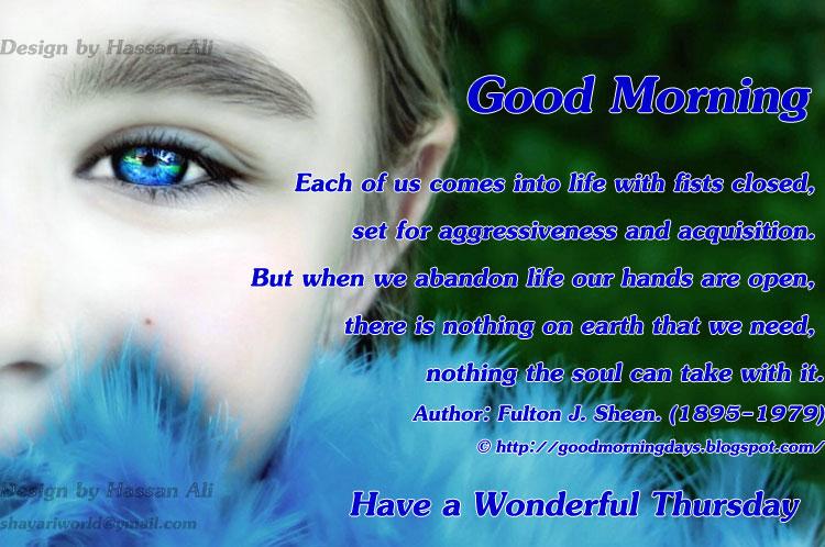 Have A Wonderful Thursday Good Morning