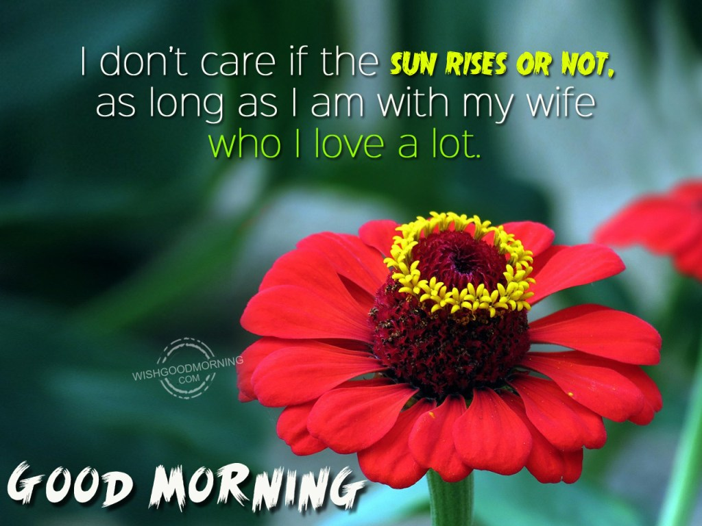 Good Morning Wishes For Wife Pictures Images