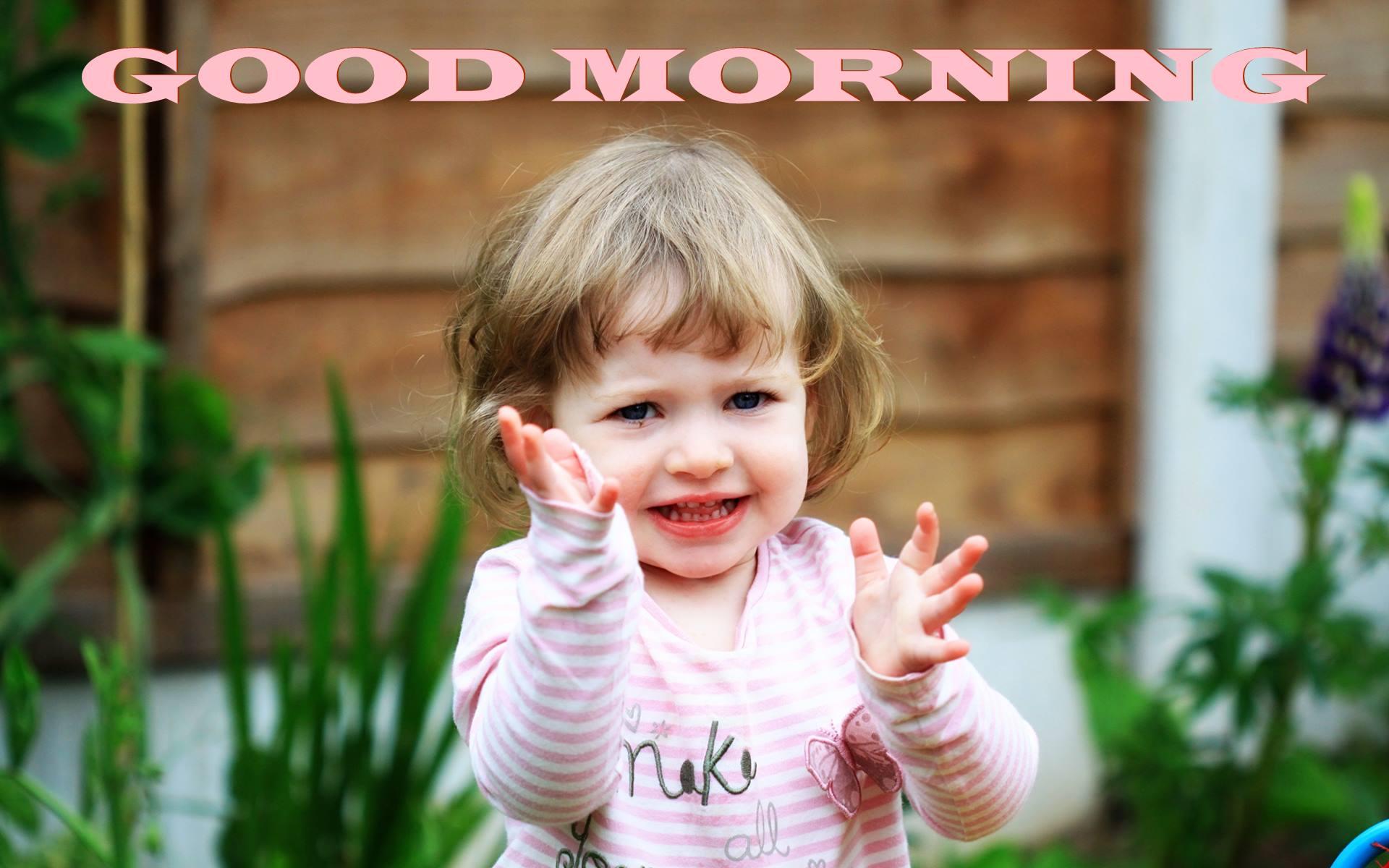 Little Baby Wishing Good Morning