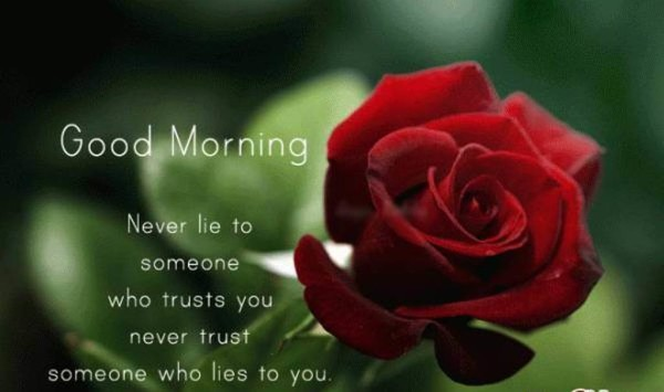 Never Lie To Someone Good Morning-wm13127