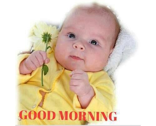 Sweet Baby Wishing Good Morning