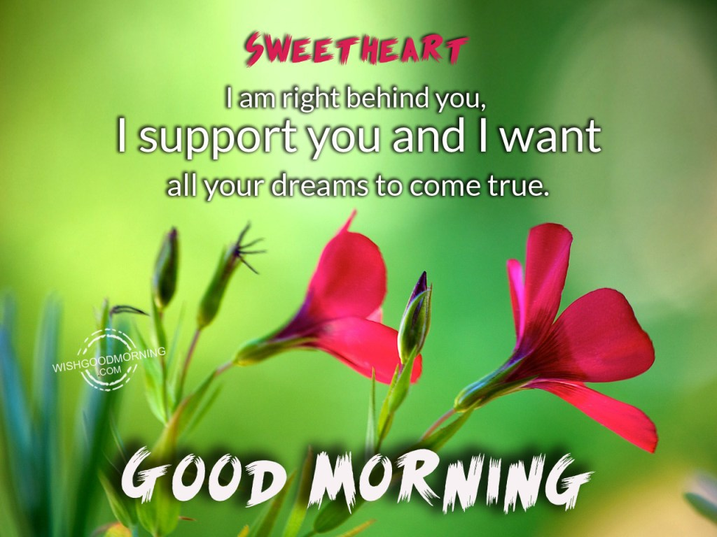 Sweet morning wishes