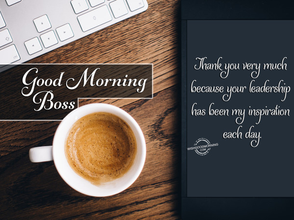 Thank You Very Much Good Morning Boss