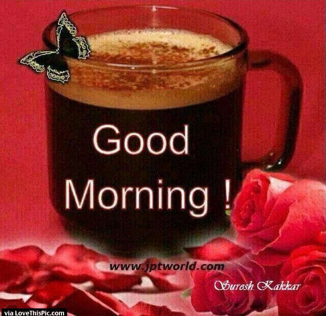Beautiful Good Morning With Coffee