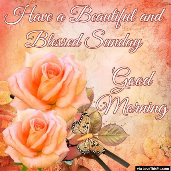 Blessed Sunday – Good Morning