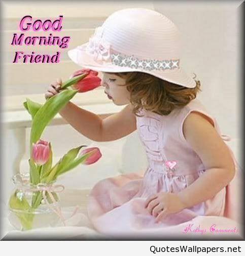 Cute Girl Wishing Good Morning-wg02305-wg02504