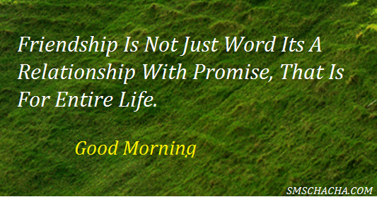 Friendship Is Not Just Words Good Morning