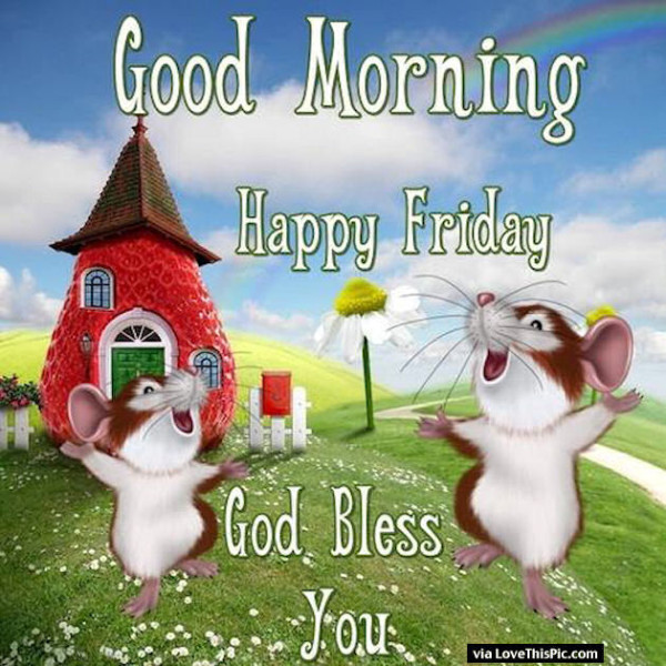 God Bless You - Happy Friday-wg01617