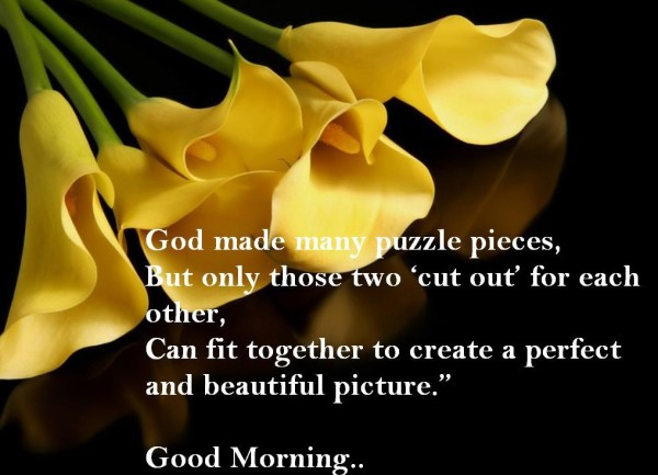 God Made Many Puzzle Pieces - Good Morning-wg017016