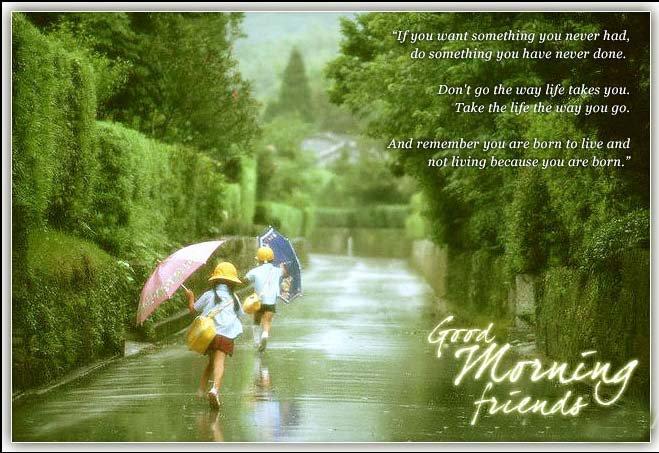 Good Morning Friends Rainy Day