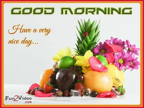 Unique Good Morning Images With Fruits