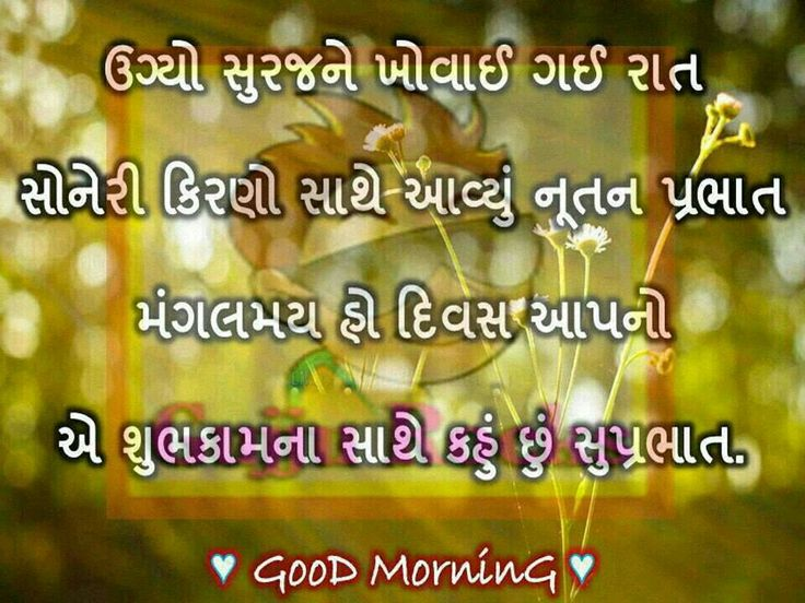 Good Morning Wishes In Gujarati Pictures Images
