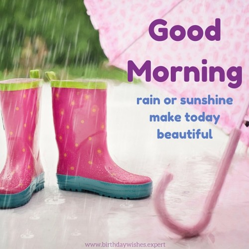 Good Morning - Rains Or Sunshine Make Today-wg015028