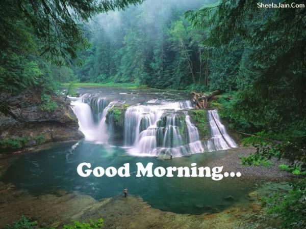 Good Morning - Waterfall Scenary-wg017045