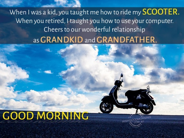 Good Morning Wish For Grand Father-wm2406