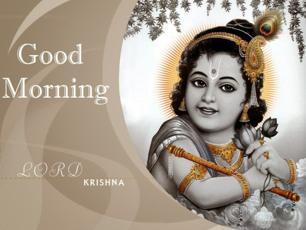 Good Morning Wish With Lord Krishna Ji-wm0318