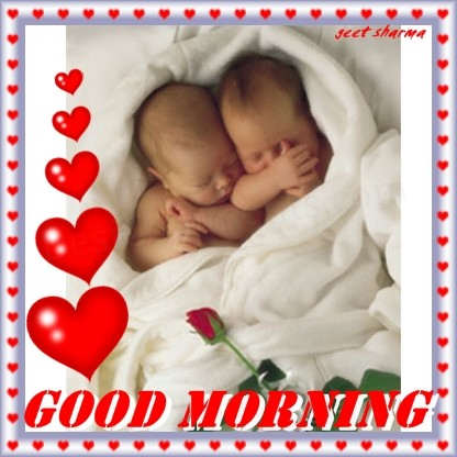 Good Morning Wishes With Babies-GD108