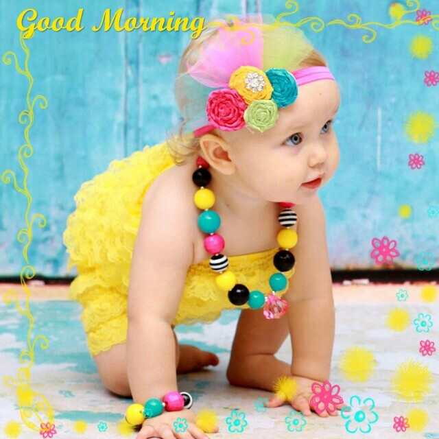 Good Morning Wishes With Baby Pictures Images Page 18