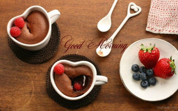 Good Morning With Cake In Cup-wg017097