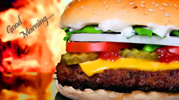 Good Morning With Spicy Burger Image-wg6407
