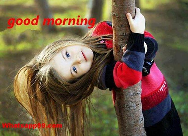 Good Morning In French To A Girl : Good morning with sweet girl