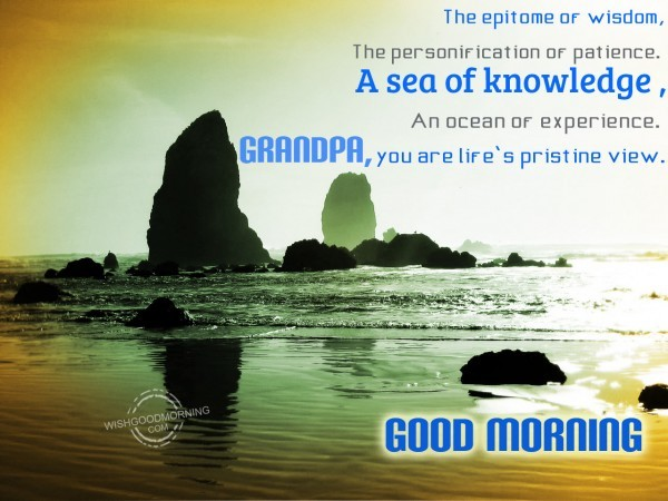 Good Morning You Are Life Pristine View-wm2407