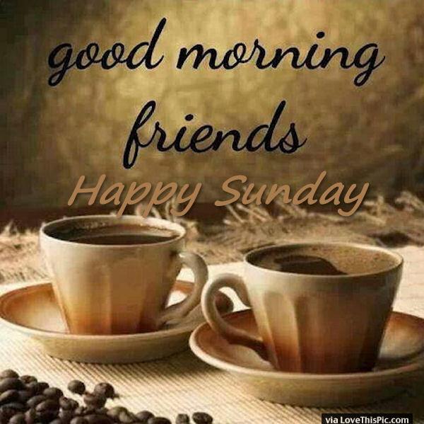 Good Morning Friends Happy Sunday