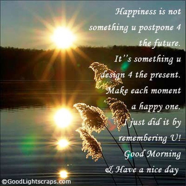 Happiness Is Not Something U Postpone For-wg01354