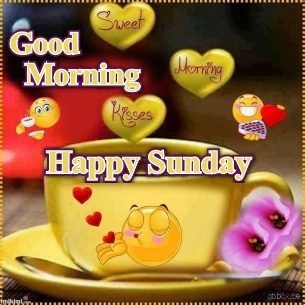 Happy Morning With Smiley Sunday