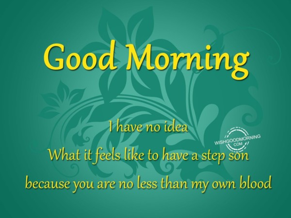 I Have No Idea - Good Morning-wg03416