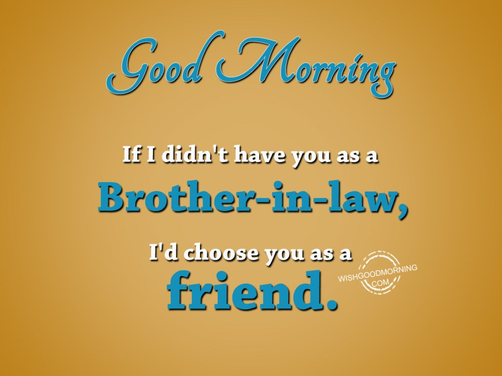 Good Morning Wishes For Brother In Law Pictures Images
