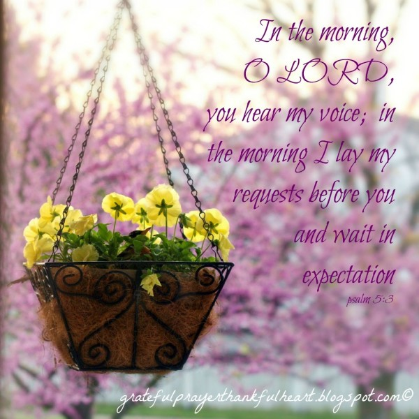In The Morning O Lord You Hear My Voice-wg01012