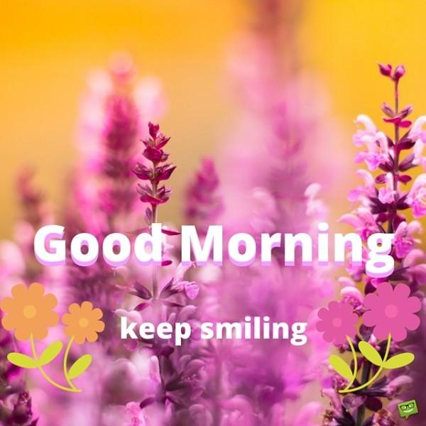 Keep Smiling Good Morning-wg01777