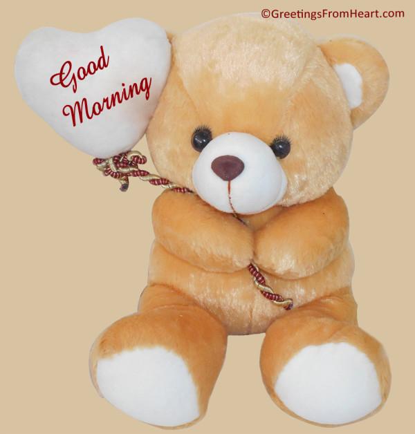 Lovely Teddy Image-Good Morning-wm1848